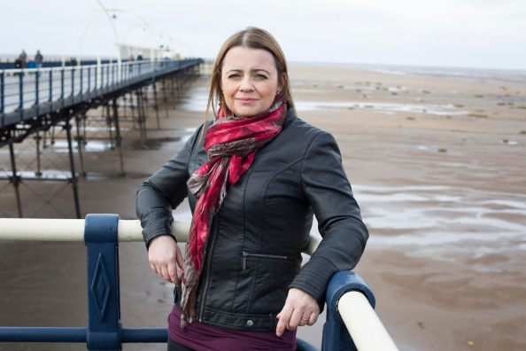 Author Carys Bray, photographed near her home in Southport, Lancashire.