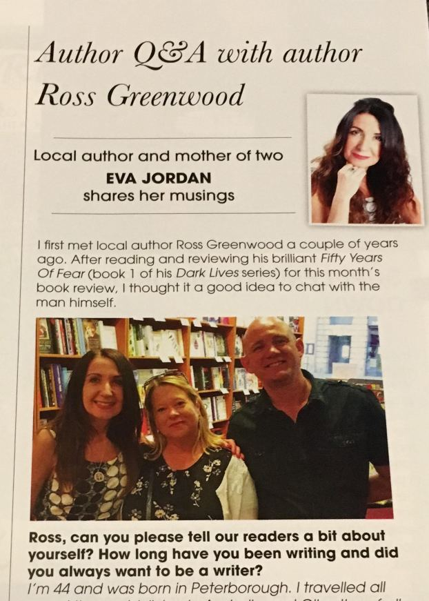 Pictured from right to left: Ross Greenwood, author Jane E James, and myself