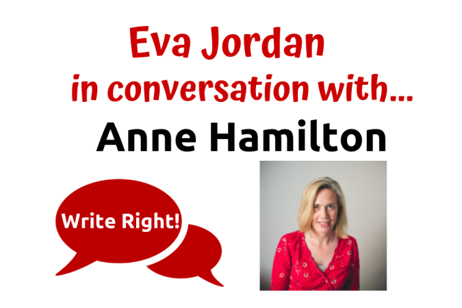 Eva Jordan in conversation with Anne Hamilton - Write Right! - Post Header